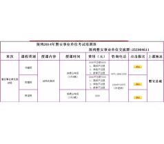 展鸿2014年磐安县事业单位面试辅导简章