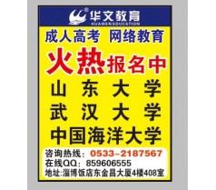 华文教育成人高考 值得信赖