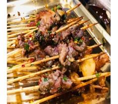 郑州教学烈火牛肉烤串做法